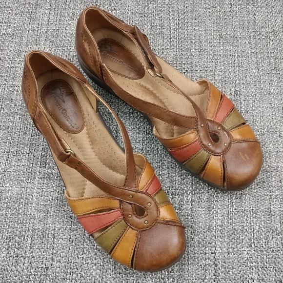 7b84941564 Earth Origins Shoes - Earth Origins Vera Multi Color Strappy Sandals 7M
